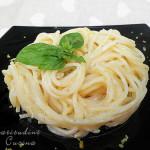 Spaghetti limone e caprino