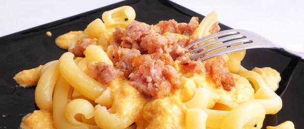 Pasta zucca e salsiccia