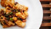 Bocconcini di pollo asparagi e speck