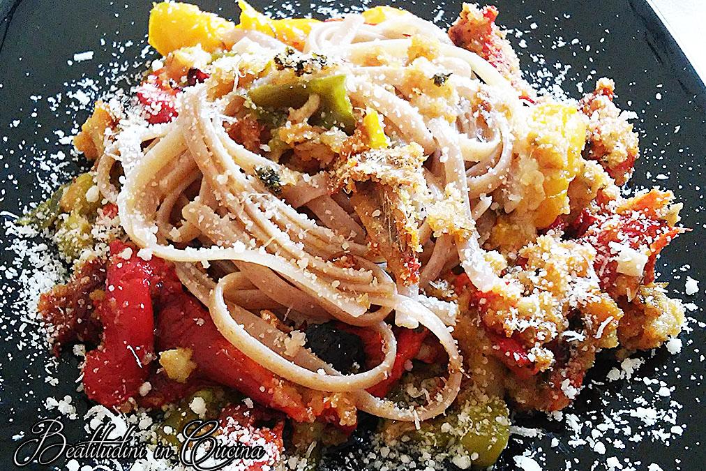 Pasta con verdure ripiene