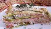 Parmigiana light di zucchine e speck