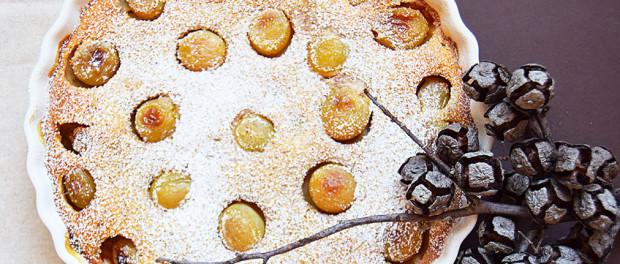 clafoutis di uva bianca