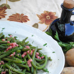 Fagiolini verdi al prosciutto cotto