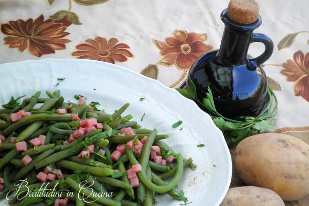 Fagiolini verdi al prosciutto