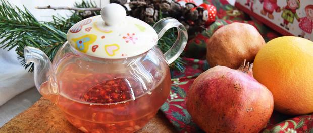 Tè bianco alla melagrana