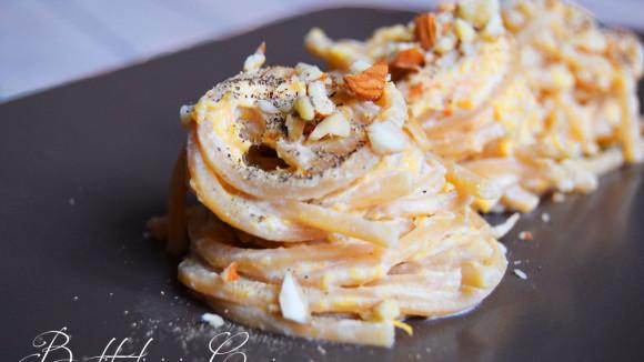 Spaghetti zucca e ricotta