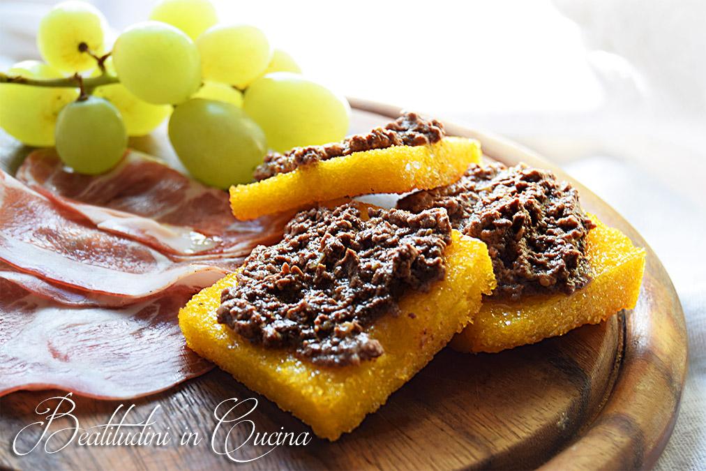 Crostino toscano con patè di fegatini
