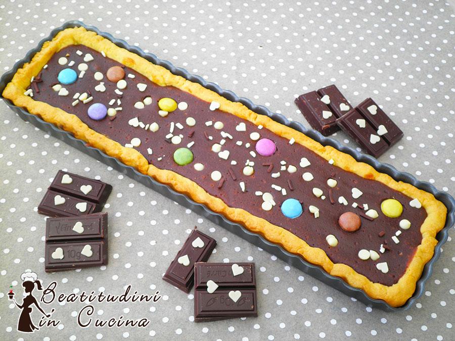 Crostata cioccolato fondente e philadelphia dolce al cioccolato