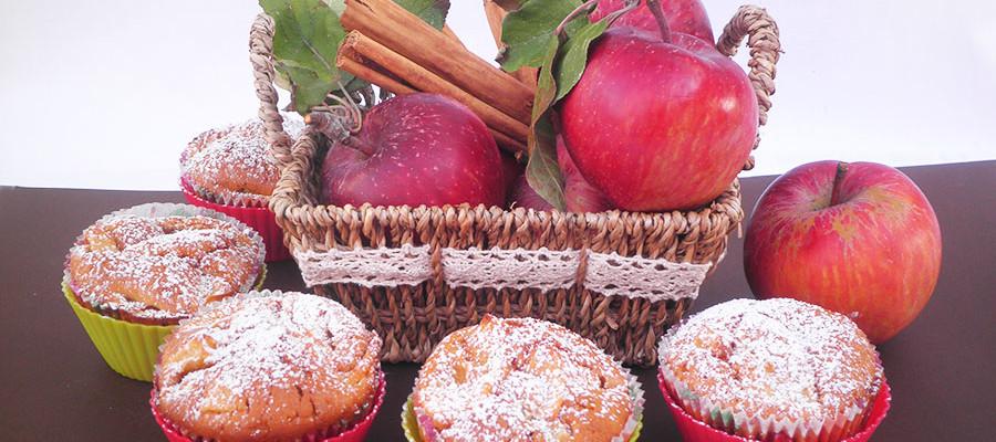 Muffin alle mele, miele e cannella