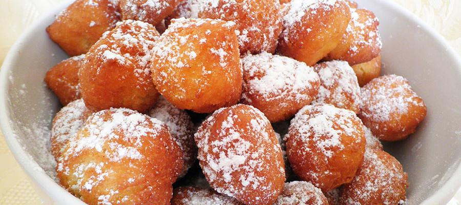 Strufoli di Cortona, strufoli fritti di Carnevale
