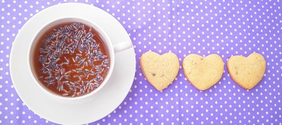 Tè bianco alla lavanda