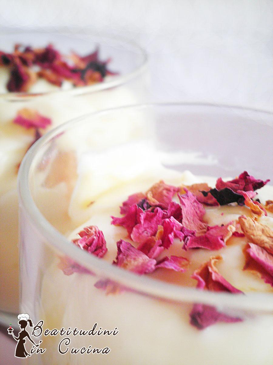 Tiramisù alla rosa e tè nero