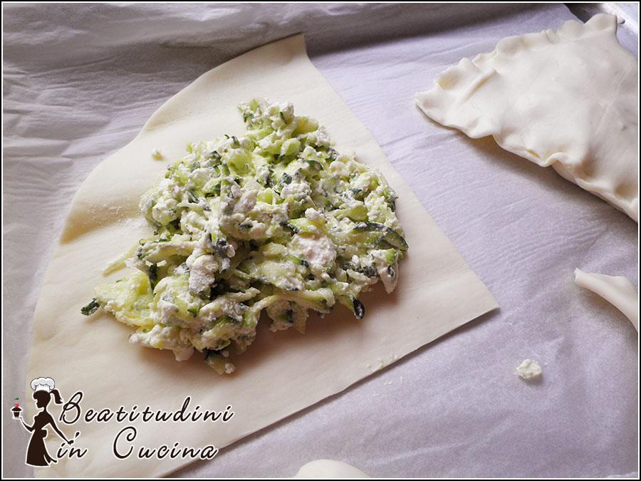Sfogliatine zucchine e feta