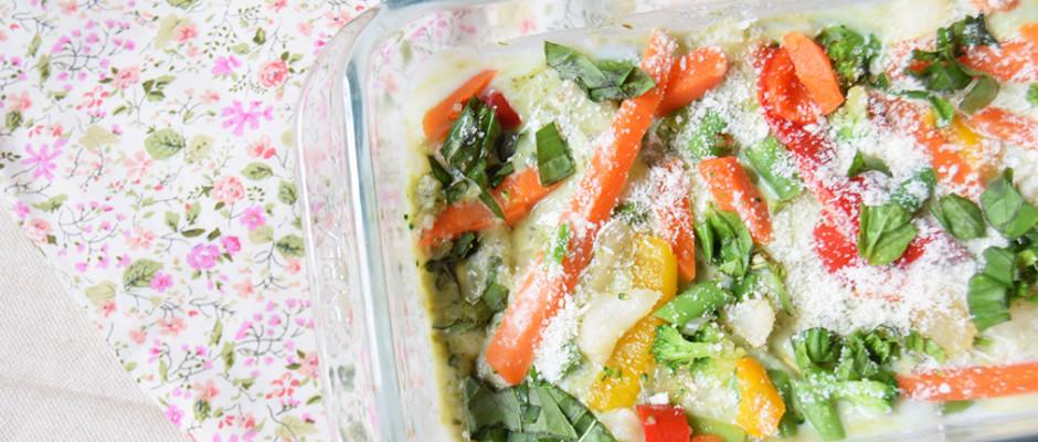 Lasagne al pesto e verdure