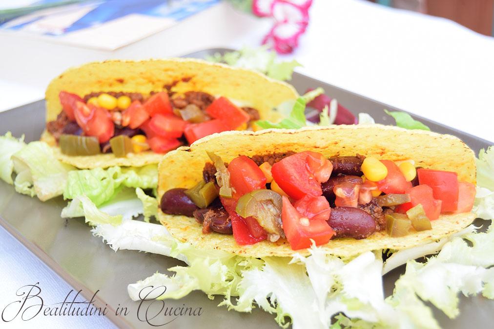 Tacos con carne e fagioli