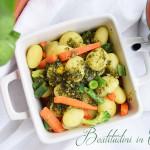 Gnocchi con verdure e pesto