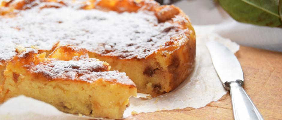torta di semolino e mele