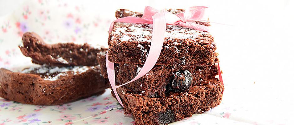 Brownies cioccolato e amarena