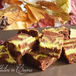 Brownies variegato al philadelphia