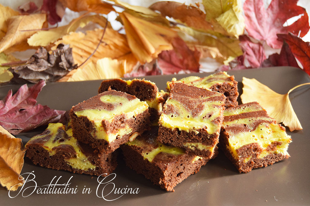 Brownies variegato al philadelphia