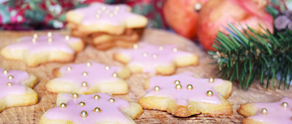 Biscotti glassati all'arancia