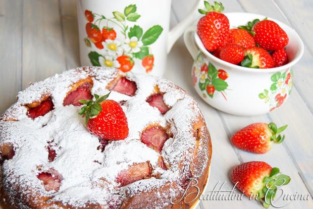 torta fragole e ricotta, fragole, ricotta. torta