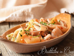 calamarata primo piatto pasta calamarata e calamari