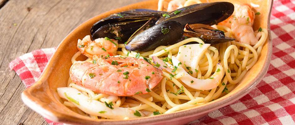 Spaghetti allo scoglio bianco