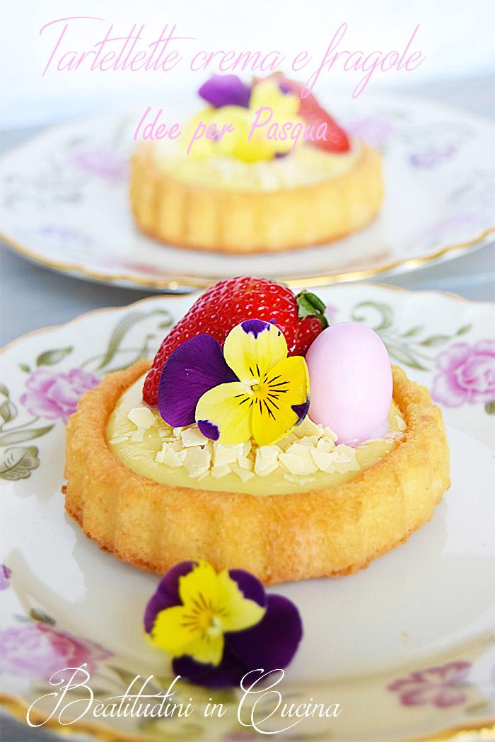 Tartellette crema e fragolepasqua