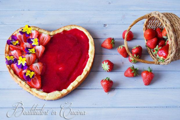 Crostata fragole e ricotta