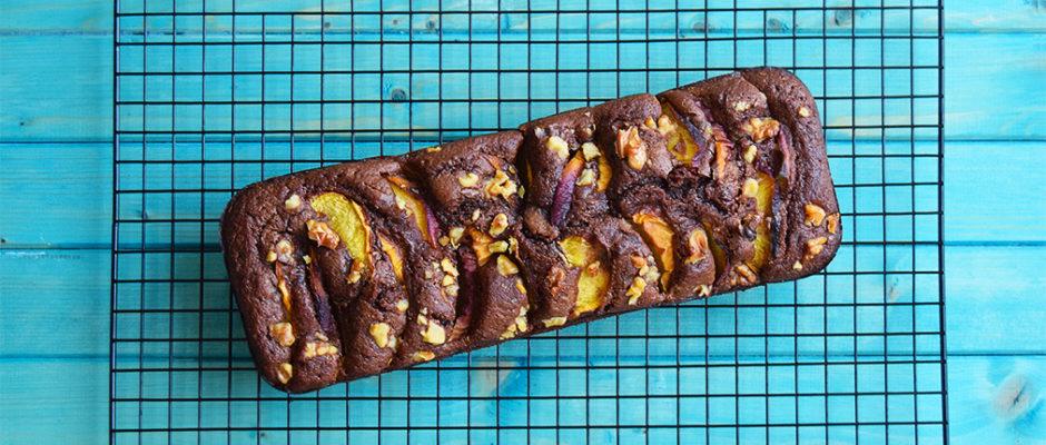 Plumcake al cioccolato e pesche