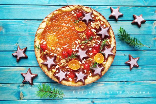 Crostata di Natale alle clementine