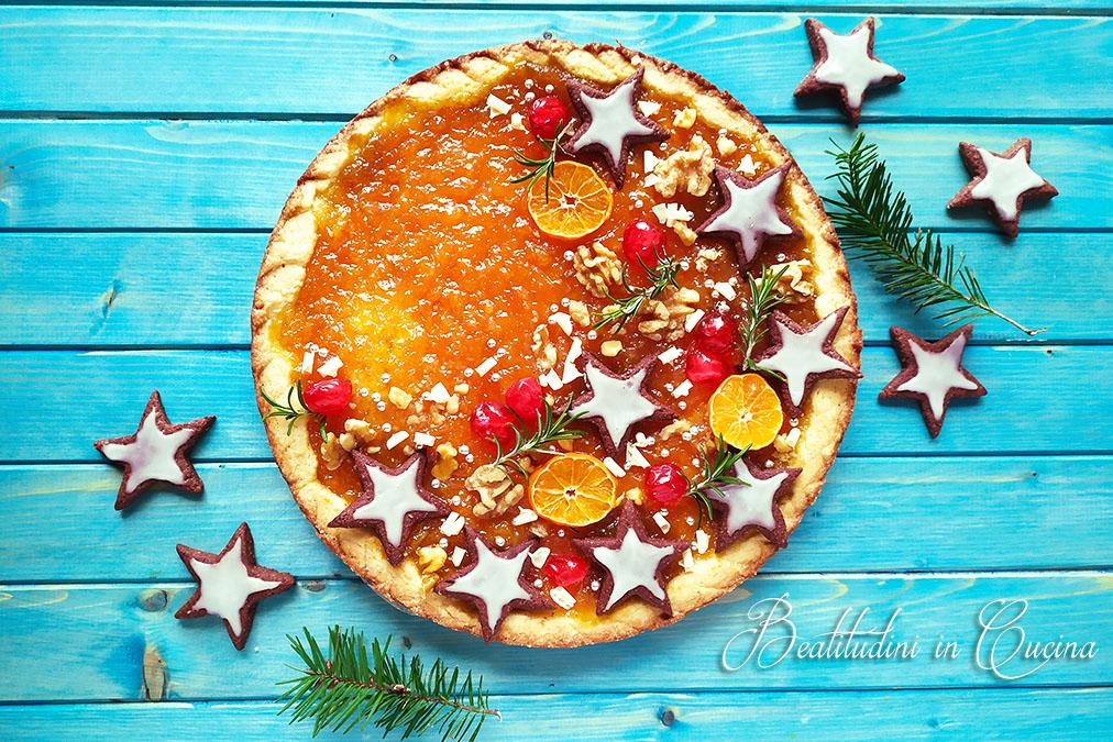 Crostata di Natale ai clementini