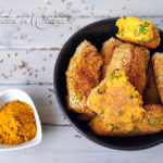 Crocchette di cavolfiore, zucca e piselli al curry