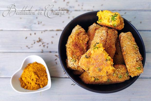 crocchette di cavolfiore al curry cotte al forno