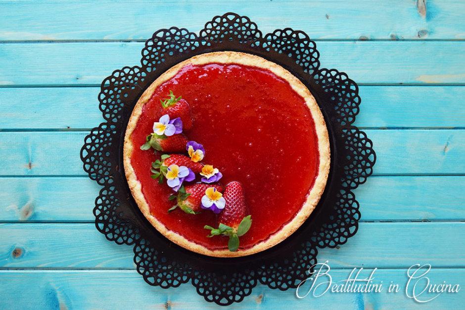 torta al semolino e fragole