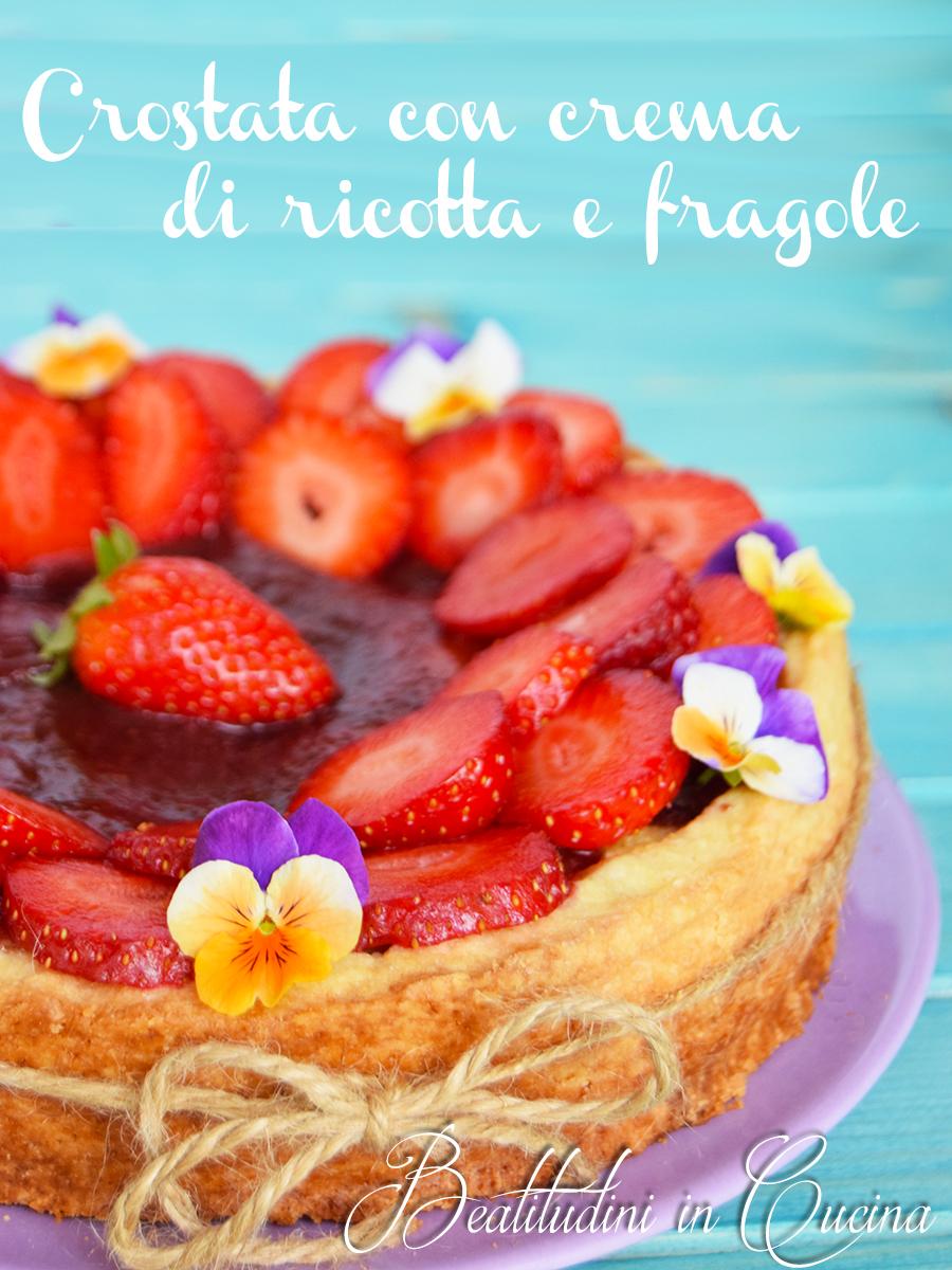 Crostata con crema di ricotta e fragole1