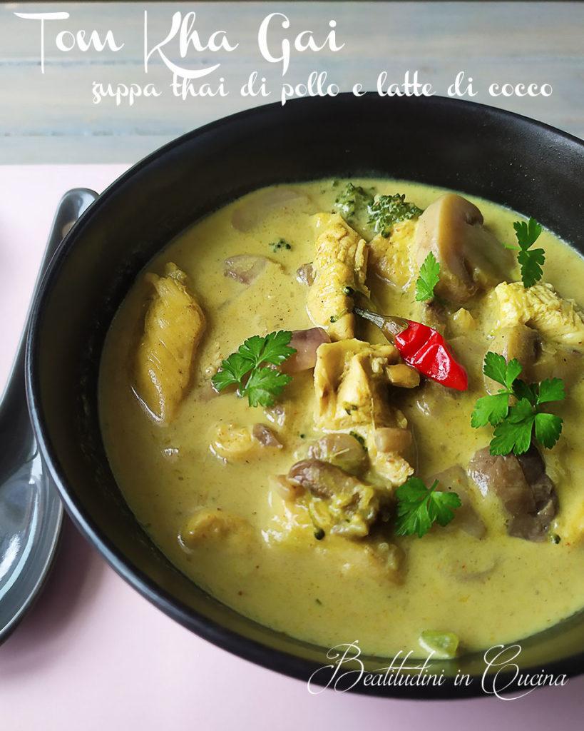 Tom kha gai zuppa tailandia pollo e latte di cocco