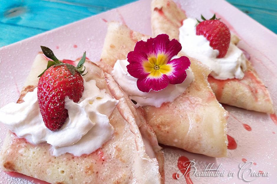 Crepes panna e fragole