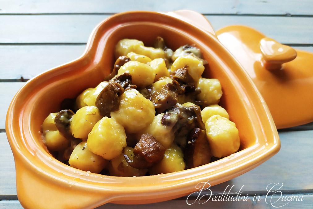 Gnocchi di patate ai porcini