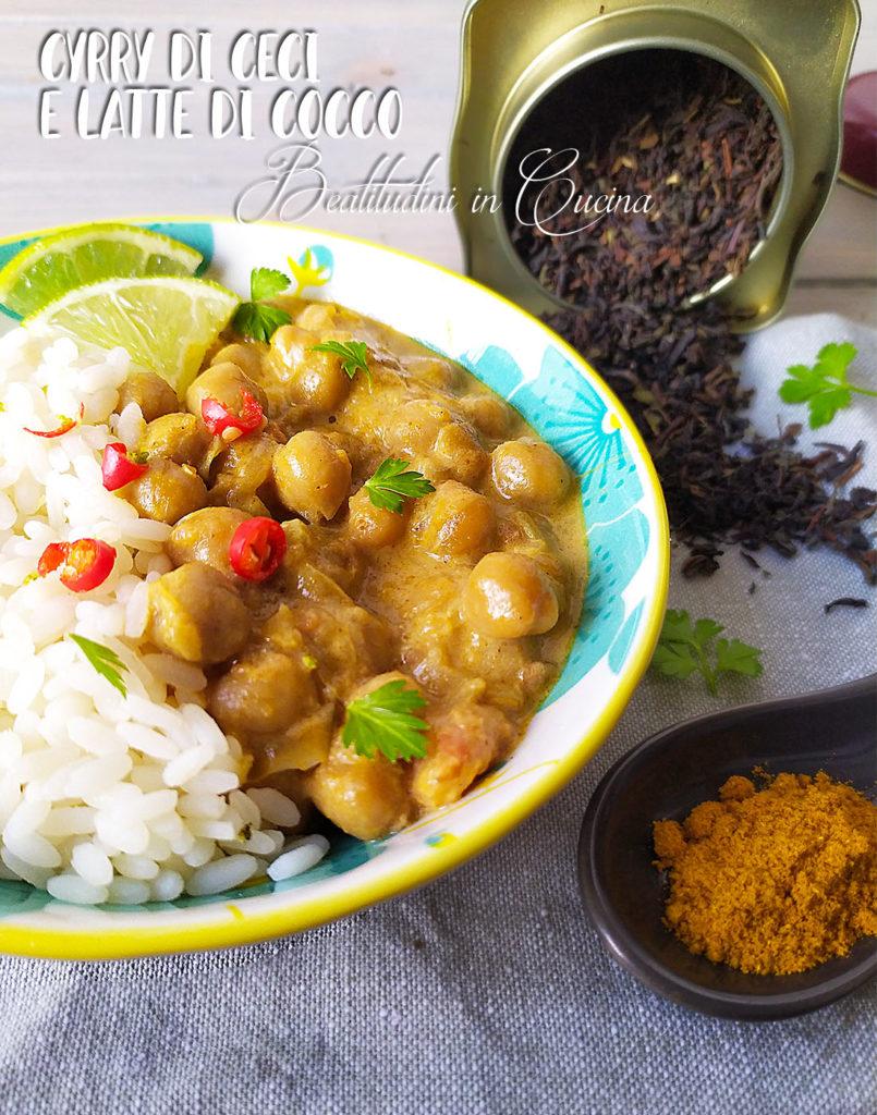 Curry di ceci al latte di cocco